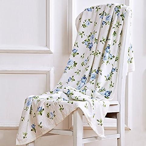 Rose-Stampa Jacquard asciugamano/La morbida pelle acqua assorbendo asciugamano-D