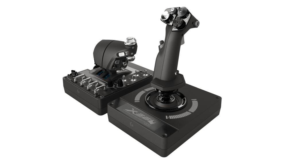 Logitech-G-X56-Manette-de-Simulation-de-vol-arienspatial–clairage-RVB