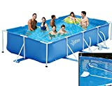 Summer Escapes Frame Pool 427x244x91cm Rahmen Swimming Pool + Reinigungsset
