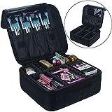 Travelmall Cosmetic Organizer-Professional Trucco-Travel Trucco Strumenti Contenitore (S-nero)
