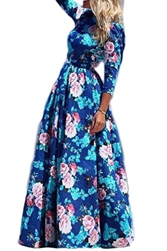 manica-a-3-4-floreale-femminile-abito-da-festa-lunga-abito-altalena-blue-xl