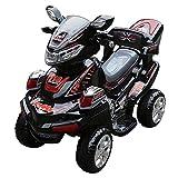 Quad Elektro Motorrad Elegance schwarz 6V für Kinder 1Platz