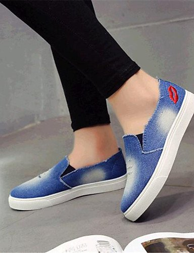 ZQ gyht Damenschuhe-Halbschuhe-Outddor / L?ssig-Denim Jeans-Flacher Absatz-Komfort-Blau light blue-us5 / eu35 / uk3 / cn34