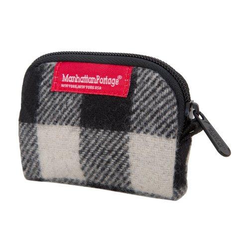 manhattan-portage-woolrich-buffalo-check-coin-purse-white-black-one-size