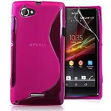 VCOMP® S-Line TPU Silikon Handy Schutzhülle für Sony Xperia T Lt30p - PINK