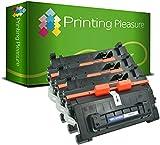 Printing Pleasure 3 Compatibles CF281A 81A Cartouches de Toner pour HP Laserjet Enterprise MFP M630dn M630f M630h M630z M604dn M604n M605dn M605x M606dn M606x - Noir, Grande Capacité (10.500 Pages)