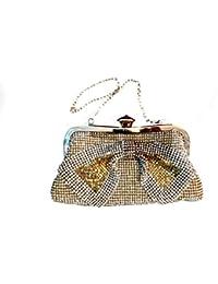 1stAmerican Pochette donna elegante con strass e brillanti borsa a mano