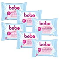 bebe 5in1 Nourishing cleansing wipes - make-up wipes for sensitive and dry skin - 6 x 25 pieces