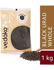 Amazon Brand - Vedaka Popular Black Urad Whole/Sabut, 1 kg