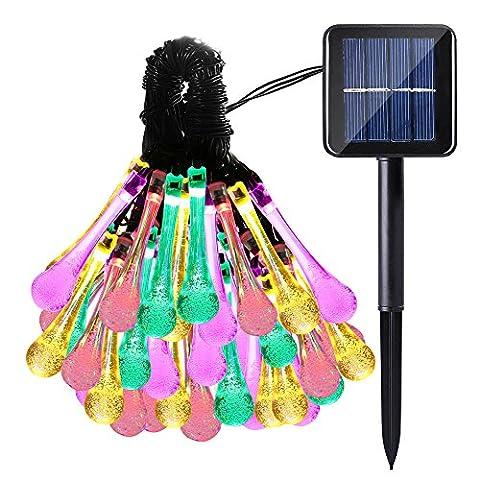 lederTEK, Solar Lichterkette 4,8m 20 LED 8 Modi Außenlichterkette Wasserdicht mit Lichtsensor Weihnachtsbeleuchtung, Beleuchtung für Haushalt, Außen, Garten,
