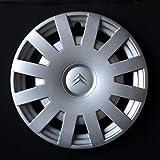 Wheeltrims Set de 4 tapacubos nuevos para Citroen C3/C1/C2/C4/C5/C8/Nemo/Berlingo/Xsara Picasso con llantas originales de 15''