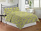 Bombay Dyeing Floral Polycotton Double Bedsheet With 2 Pillow Covers Olivia
