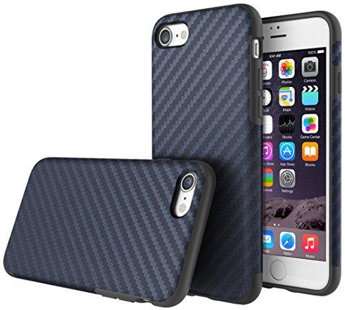 "DolDer ""Carbon Texture Design"" iPhone 7 TPU Silikon Hülle Schutzhülle Case - Blau iphone 7 blau"