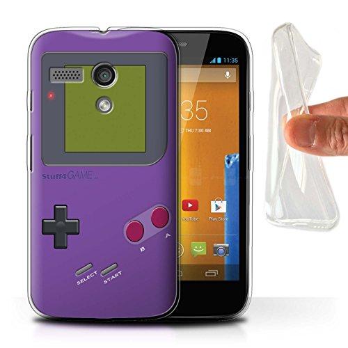 Stuff4® Gel TPU Hülle/Case für Motorola Moto G (2013) / Violett Muster/Videogamer/Gameboy Kollektion - G Motorola Case Moto Gameboy