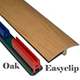 Laminierte Fußleiste für die Türschwelle mit Clip-System, 38mm x 90cm, selbstklebend, leicht anzubringen