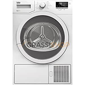 Beko DE8433RX0 freestanding Front-load 8kg A++ White tumble dryer - Tumble Dryers (Freestanding, Front-load, Heat pump, White, Buttons, Rotary, 178°)