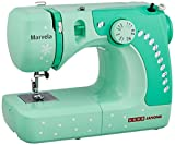 Best Sewing Table - Usha Janome Marvela 60-Watt Sewing Machine (White/Green Decals) Review