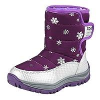 Zerototens Children Snow Boots,4-8 Years Old Girls Winter Shoes Plush Boots Fashion Children