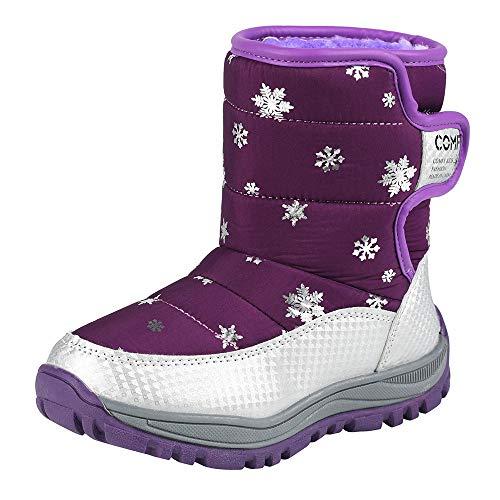 JUSTSELL_Schuhe für Damen,Frauen Winterstiefel für Mädchen Jungen Winterschuhe Warm Gefüttert Winterboots Outdoor Rutschfest Schneestiefel