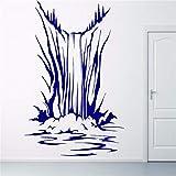 Yologg 42X52 Cm Cascada Etiqueta De La Pared Del Mar Calcomanías Mural Vinilo Sala De Estar Diseño Decoración Patrón De Arte Océano Piedra Paisaje Calcomanía