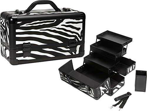 Seya Pro Makeup Train Case w/ Brush Holder (Zebra) by Seya Beauty