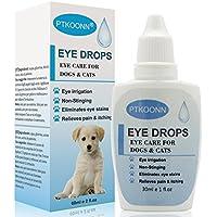 PTKOONN Tropfen Hund,Augentropfen für Haustiere,Augentropfen,Eye drops,Augenpflege mit Augentropfen für Hunde und Katzen,Schonende Pflege und Reinigung,30ml