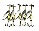 HENGJIA Lot 5 sinkend Spinner Löffel Köder Angelköder Künstliche Harter Köder für Forellen Bass Pike Fishing Tackle Equipment 16.3 g/10 cm