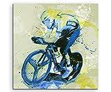 Radsport I 60x60cm SPORTBILDER Paul Sinus Art Splash Art Wandbild Aquarell Art