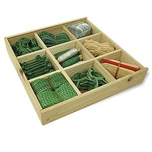 Coffre à outils de jardinage en bois - outils inclus