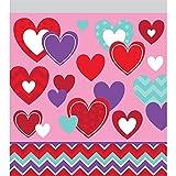 Creative Converting 073422120Zählen Valentinstag Waschbär, Reißverschluss Brottasche Chevron Hearts