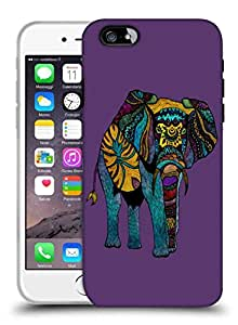 Snoogg Abstract Neon Elephant Designer Protective Back Case Cover For IPHONE 6