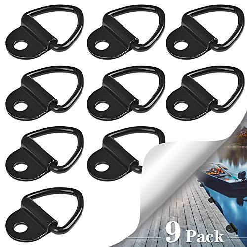 SANTOO 9 Stück Zurröse V Aufbauring Schwerlast 1000 lbs Edelstahl Zurring Ringe Haken für Anhänger LKW Trucks Bootsseillager -