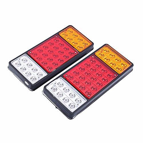 HEHEMM 12V 36 LED Rückleuchten LKW-Rückleuchte Auto-Auto-Lampen-Rücklicht-Anhänger-Anschlag-Anzeige-Anhänger-Lampen-Boots-Lichter (Satz von 2 - Anhänger Led-marker
