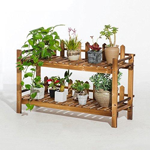 Support à Fleurs échelle en Bois Pot De Fleur Rack Jardin Terrasse Plante Stand Balcon étagère De Rangement Debout 2,Large(90cm)