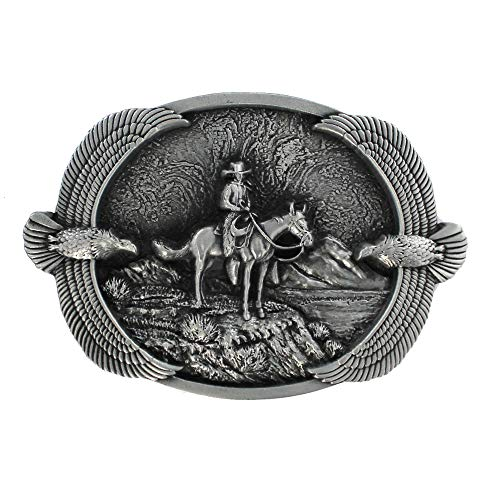 eeddoo Cinturón Hebilla-Western Cowboy Eagle (Buckle para cambio Cinturón para hombre y mujer)