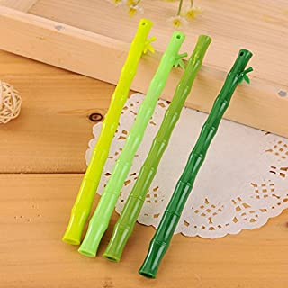 Allbusky Gel Ink Rollerball Pens Black 0.38mm for Kids Cute Bamboo Shape Novelty Pens for Birthday Gift School Office Stationery Back to School Gift Christmas Xmas Gift 8 Pieces (Bamboo Shape)