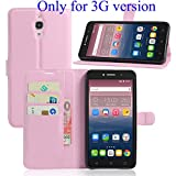 Guran® Ledertasche Tasche für Alcatel Pixi 4 ( Nur für die 3G-Version, 6,0 Zoll) Smartphone Flip Cover Standing Funktion und Kartensteckplatz Case