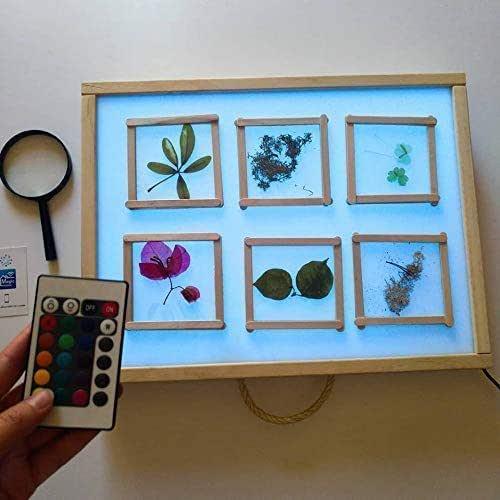 R-Crea Tavolo luminoso Montessori 48x37x7 - Colore naturale -Con certificato di qualità rilasciato dall'Università di Murcia