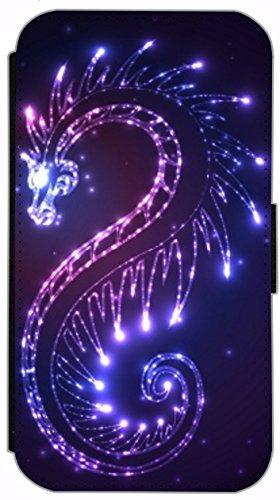 Kuna Flip Cover für Apple iPhone 5 / 5s Design K268 Panda Hülle aus Kunst-Leder Handy Tasche Etui mit Kreditkartenfächern Schutzhülle Case Wallet Buchflip Rückseite Schwarz Vorderseite Bedruckt mit Bi K255