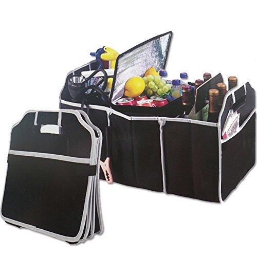 Preisvergleich Produktbild DAYAN Auto-Kofferraum Organizer, Schwarz, 3 große Teile der Lagerung, speichern Sie Ihre Reinigungsartikel, Notfallausrüstung , Lebensmittel, Werkzeuge