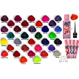 Crazy Color Semi-permanent Hair Colours- 1 x Bottle of crazy colors with Q7S TM Tint Brush