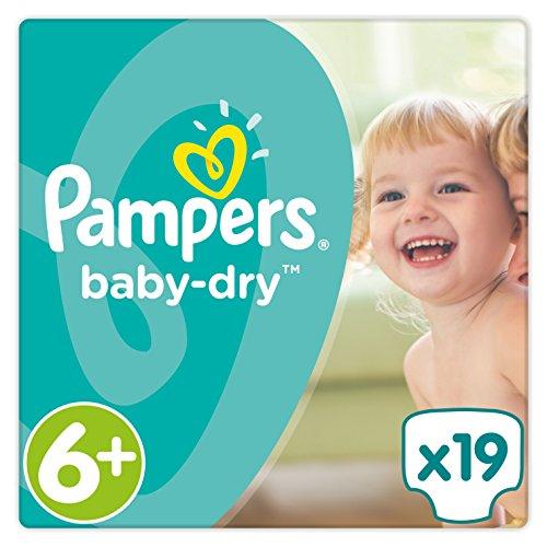 Pampers Baby Dry Windeln, Größe 6+, 16+ kg Sparpack, 1er Pack (1 x 19 Stück)