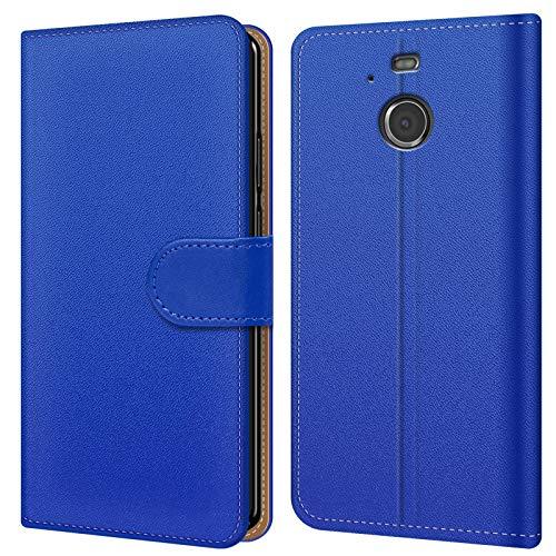 Conie Hülle für HTC 10 Evo Tasche Bookstyle Blau, PU Leder Hülle Blau, Handyhülle 10 Evo Flip Case Wallet, Booklet Cover Brieftasche Etui Schutzhülle mit Kartenfächer, für HTC 10 Evo (5.5