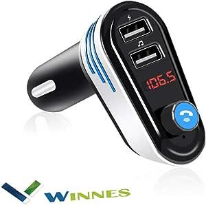 Winnes Fm Transmitter Multifunktions Wireless Mp3 Elektronik