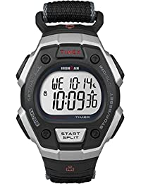 Timex Ironman Men's T5K826 Quartz Classic 30 Lap Watch with LCD Dial Digital Display and Black Fast Wrap Strap