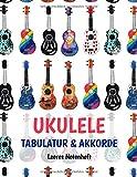 Ukulele Tabulatur und Akkorde Leeres Notenheft: Leeres Notenheft zum komponieren, Ideen festhalten und Song schreiben.