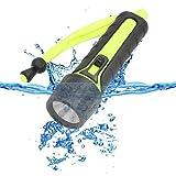 Yaxuan Tauchen Taschenlampe 110LM LED Underwater 50M Torch PC + TPE Waterproof Taschenlampe Taschenlampe für professionelles Tauchen Camping Biking Working Jagd
