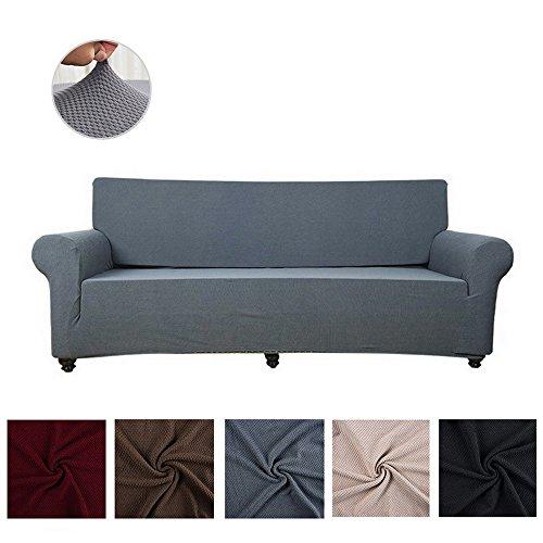 souart Gestrickter Jacquard Sofabezug Elastische Sofahusse Sesselbezug Sofaüberwurf Couch Husse in Verschiedenen Größen und Farben