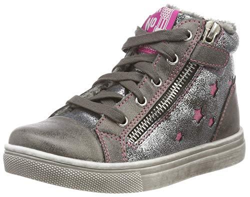 Indigo Mädchen 452 065 Hohe Sneaker, Grau (Dk. Grey 254), 33 EU