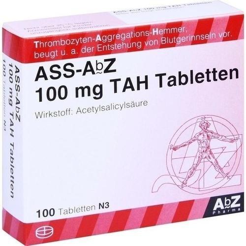 ASS AbZ 100 mg TAH Tabletten 100 St Tabletten